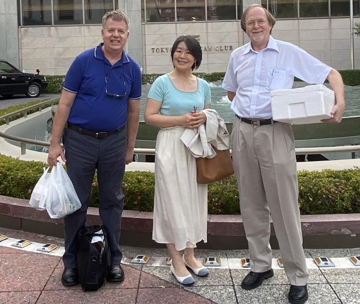 メリージェーンジャパン社マックス社長と木川社長、ショーン副社長と